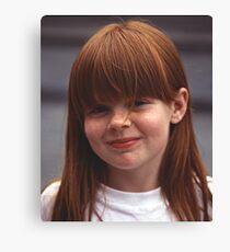 Girl With Auburn Hair and Freckles Canvas Print
