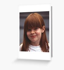 Girl With Auburn Hair and Freckles Greeting Card