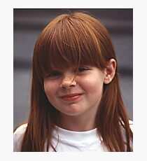 Girl With Auburn Hair and Freckles Photographic Print