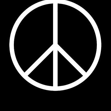 Ban the Bomb, Peace, symbol, Old school, original, CND, Trident, Campaign for Nuclear Disarmament, White on Black by TOMSREDBUBBLE