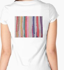 ETHNIC, WEAVE, COLOURFUL, THREADS, PATTERN, FABRIC,  Women's Fitted Scoop T-Shirt