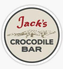 Jack's Crocodile Bar Sticker