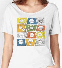 Reading Is My Super Power Well That And Flying for Comic Book & Graphic Novel Fans Women's Relaxed Fit T-Shirt