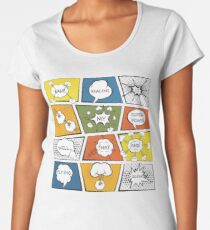 Reading Is My Super Power Well That And Flying for Comic Book & Graphic Novel Fans Women's Premium T-Shirt