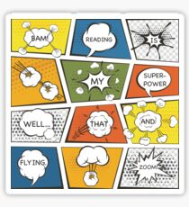 Reading Is My Super Power Well That And Flying for Comic Book & Graphic Novel Fans Sticker