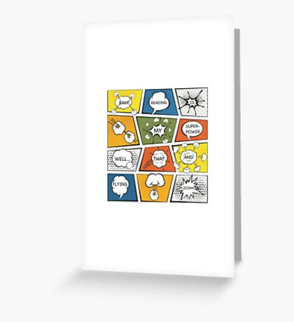 Reading Is My Super Power Well That And Flying for Comic Book & Graphic Novel Fans Greeting Card