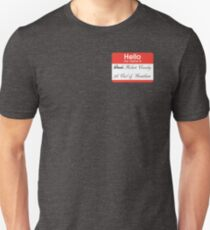 Hello badge (Robert) Unisex T-Shirt