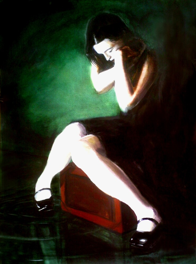 Blame Your Green Eyes (water-colour) by pauldrobertson
