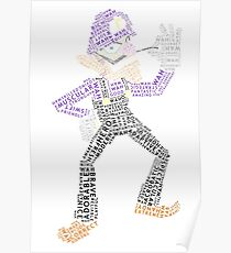 Full Body Wordle Wah Poster