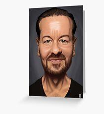 Celebrity Sunday - Ricky Gervais Greeting Card