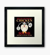 Wonderful Chicken Sound Cartoon Framed Print