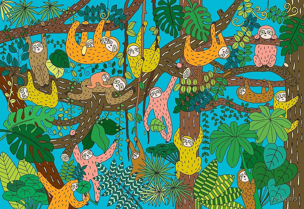 Happy Sloths Jungle  by m-lapino