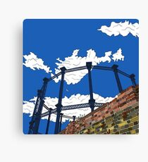 London Regent's Canal Gas Tower Canvas Print