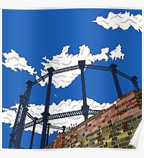 London Regent's Canal Gas Tower Poster