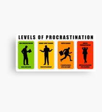 levels of procrastination slack Canvas Print