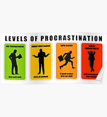 levels of procrastination slack Poster