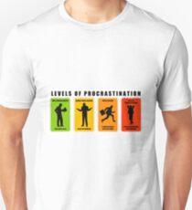 levels of procrastination slack T-Shirt