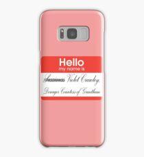 Hello badge (Violet) Samsung Galaxy Case/Skin