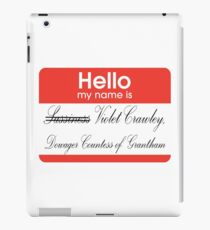 Hello badge (Violet) iPad Case/Skin