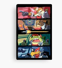 Star Muppets Fox Canvas Print