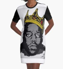 Biggie Smalls Crown Graphic T-Shirt Dress