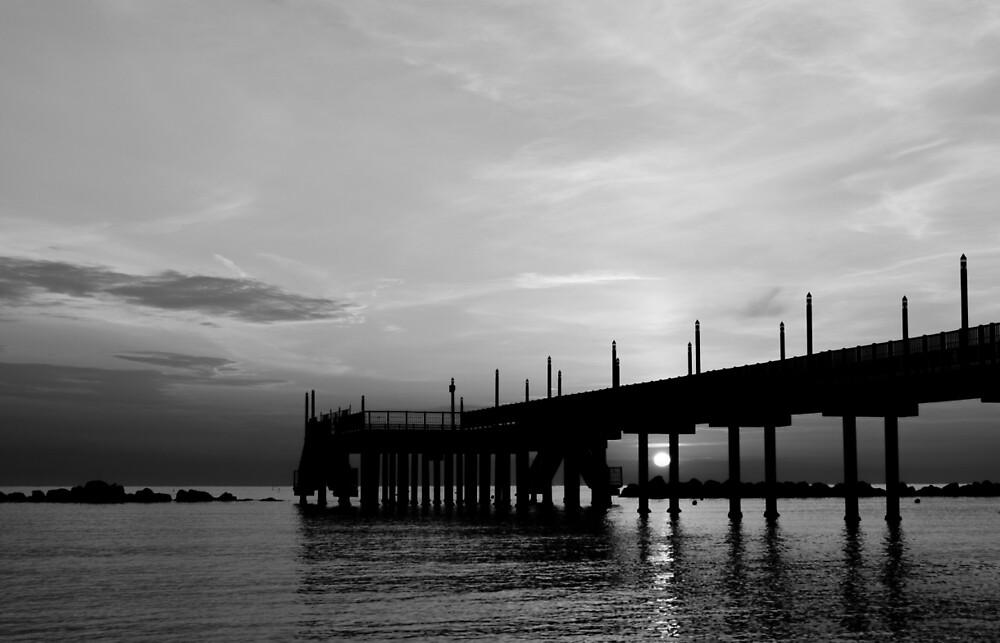 Blackheart, sunrise on the sea by Andrea Mazzocchetti