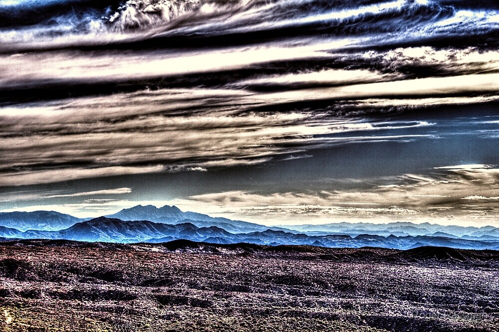 Facing Four Peaks from Sears-Kay Ruins by Roger Passman