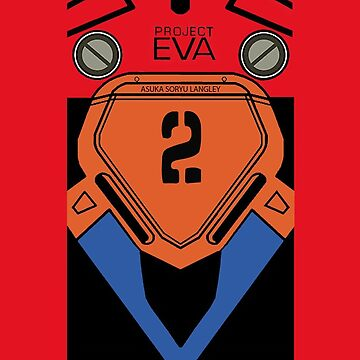 Asuka Soryu Langley Evangelion 02 iPhone Case by ExyonFardel
