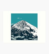 Mt Fuji from the Sky Art Print