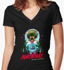 Mars Atacks Poster Women's Fitted V-Neck T-Shirt