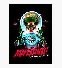 Mars Atacks Poster Photographic Print