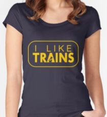 I like trains a lot Women's Fitted Scoop T-Shirt