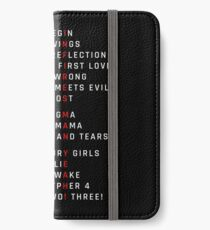 Wings Theory: Infires - BTS - White iPhone Wallet/Case/Skin