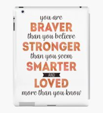 Winnie the Pooh: Braver, Stronger, Smarter, and Loved iPad Case/Skin