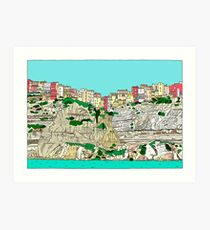 Bonifacio in Corsica Art Print
