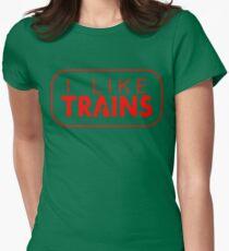 I like trains a lot Womens Fitted T-Shirt