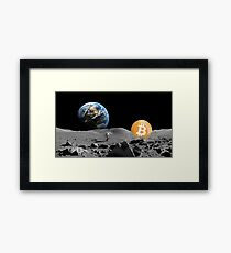 Bitcoin To The Moon Framed Print