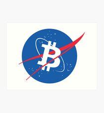 Bitcoin NASA  Art Print