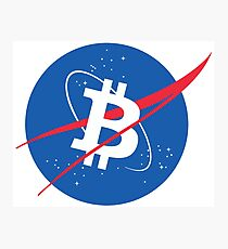 Bitcoin NASA  Photographic Print