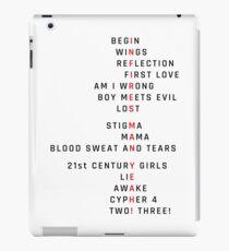 Wings Theory: Infires - BTS - Black iPad Case/Skin