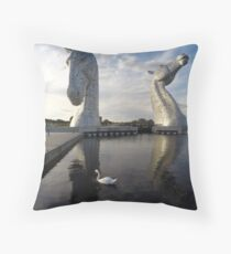 The Kelpies sculptures at the Helix Park in Falkirk  Throw Pillow
