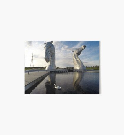 The Kelpies sculptures at the Helix Park in Falkirk  Art Board