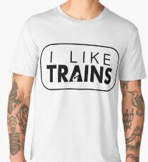 I like trains a lot Men's Premium T-Shirt