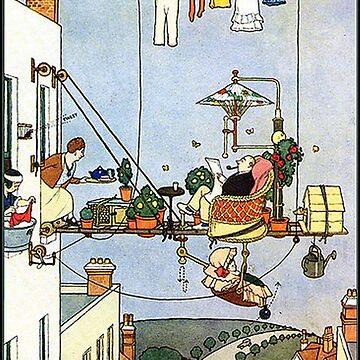 Heath Robinson, illustration, Home Comforts?, W. Heath Robinson by TOMSREDBUBBLE