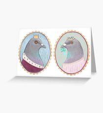 Prince and Princess Pigeon Greeting Card