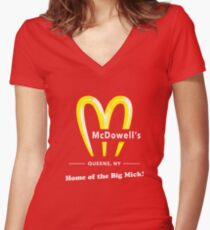 Coming To America - McDowells Resturant Women's Fitted V-Neck T-Shirt