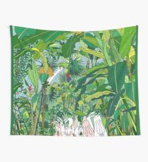 Tropical Bunnies Wall Tapestry