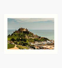 Mont Orgueil Castle Jersey Art Print