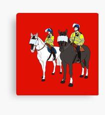 London Metropolitan Horse Cops Canvas Print