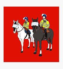 London Metropolitan Horse Cops Photographic Print